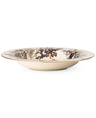 Winter Greetings Rim Soup Bowl