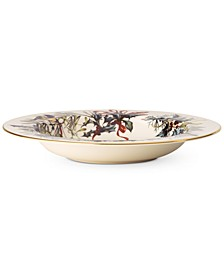 Winter Greetings Rim Soup Bowl
