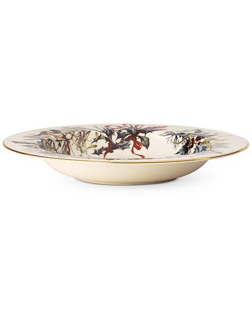 Lenox Winter Greetings Rim Soup Bowl