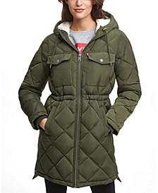 Hooded Anorak Puffer Coat