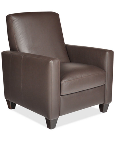 Emilia Leather Recliner Furniture Macys – Leather Recliner Club Chairs