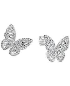 EFFY® Diamond Butterfly Stud Earrings (7/8 ct. t.w.) in 14k White Gold
