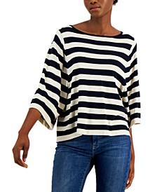 Nazione Striped Wide-Sleeve Sweater