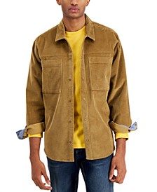 Men's Reid Regular-Fit Corduroy Shirt, Created for Macy's