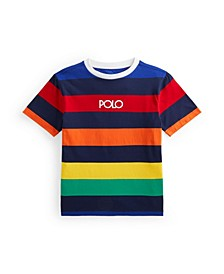 Big Boys Logo Striped Jersey T-shirt