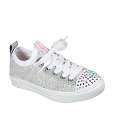 Little Girls Twinkle Toes Twinkle Sparks - Knit Shines Casual Sneakers from Finish Line
