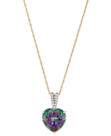 """Mystic Topaz (4-1/10 ct. t.w.) & Diamond Accent Heart 18"""" Pendant Necklace in 14k Gold (Also in Pink Amethyst)"""