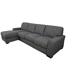 Norlander 2-Pc. Fabric Sectional with Chaise, Created for Macy's