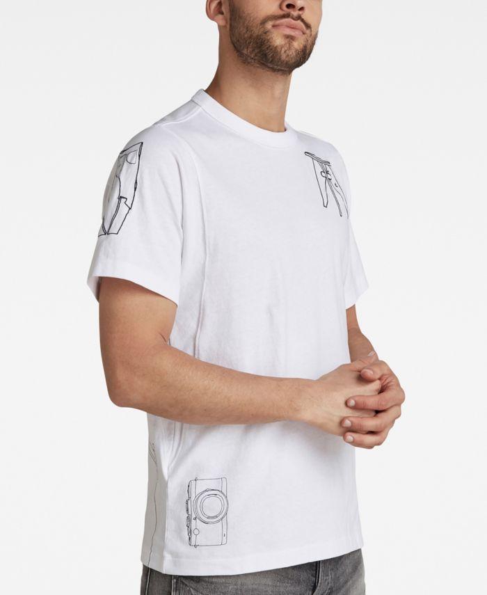 G-Star Raw Men's Multi Object Graphic T-shirt & Reviews - T-Shirts - Men - Macy's