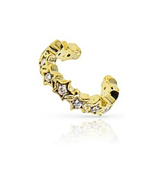 18k Gold Vermeil Cubic Zirconia Star Ear Cuff