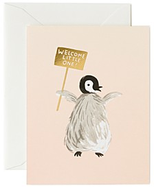Penguin Baby Welcome Card