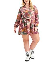Trendy Plus Size Hacci Babydoll Dress
