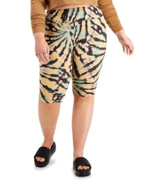 Plus Trendy Printed Bike Shorts