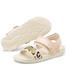 Women's Softride Leopard Sandals from Finish Line