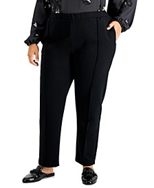Plus Size Seamed Pull-On Pants, Created for Macy's