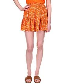 Printed Tiered Mini Skirt