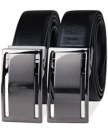 Men's Reversible Textured Plaque Belt, Created for Macy's