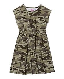 Girls 7-16 Short Sleeve All Over Print Dress