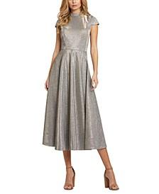 Metallic A-Line Dress