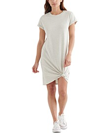 Twist-Front T-Shirt Dress