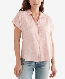 Printed Button-Front Shirt