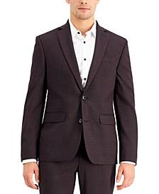 Men's Slim-Fit Purple Plaid Suit Jacket, Created for Macy's