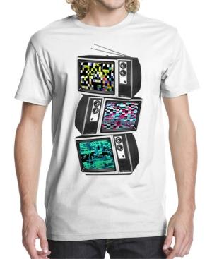 Men's Glitched Tv Graphic T-shirt