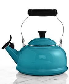 Classic Enamel on Steel 1.7 Qt. Whistling Tea Kettle
