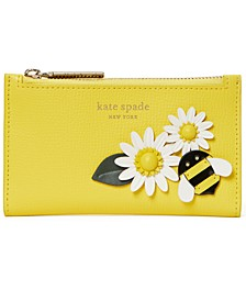 Bee Small Leather Bifold Wallet