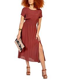 Smocked-Waist Dress