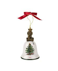 Christmas Tree 2021 Annual Teddy Bear Bell Ornament