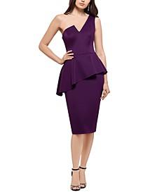 One-Shoulder Peplum Sheath Dress
