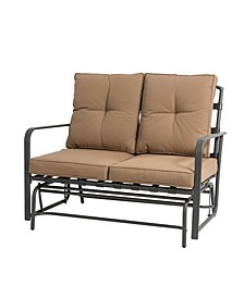 Outdoor Patio Loveseat Glider Chair with Cushions