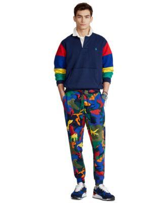 폴로 랄프로렌 조거팬츠 Polo Ralph Lauren Mens Polo Pony Camo Double-Knit Jogger Pants,Spectre Player Camo