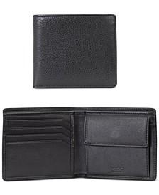 HUGO Men's Subway Pebbled Leather Coin Wallet