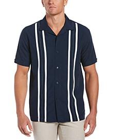 Men's Contrasting Panel Short-Sleeve Shirt