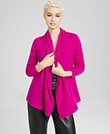 Cashmere Open-Front Cardigan, In Regular and Petites, Created for Macy's