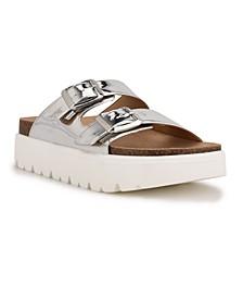 Women's Simple Platform Slide Sandals