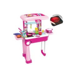 Toy Chef 2-in-1 Portable Toy Kitchen Set, 26 Pieces