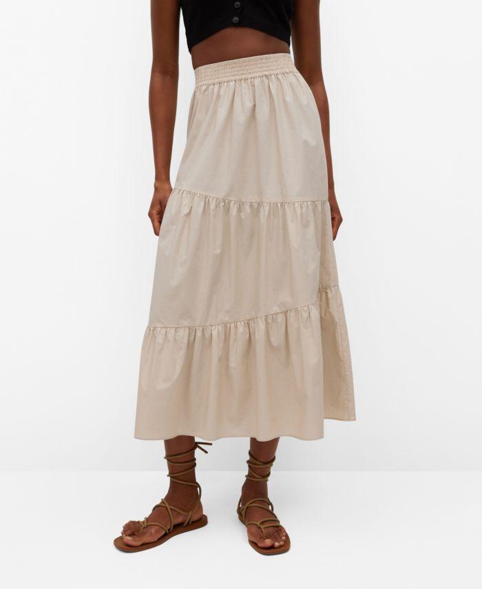 MANGO Ruffled Cotton Skirt & Reviews - Women - Macy's