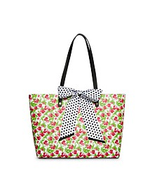 Fruity Florals Tote with Bow