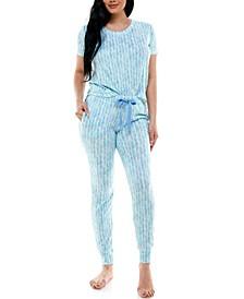 Soft & Cozy Short Sleeve & Jogger Loungewear Set