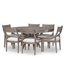 Greystone 7pc Dining Set (Round Table & 6 Side Chairs)