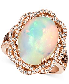 Neopolitan Opal (4-1/2 ct. t.w.) & Diamond (1 ct. t.w.) Statement Ring in 14k Rose Gold