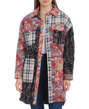 Patchwork Quilted Shirt Jacket