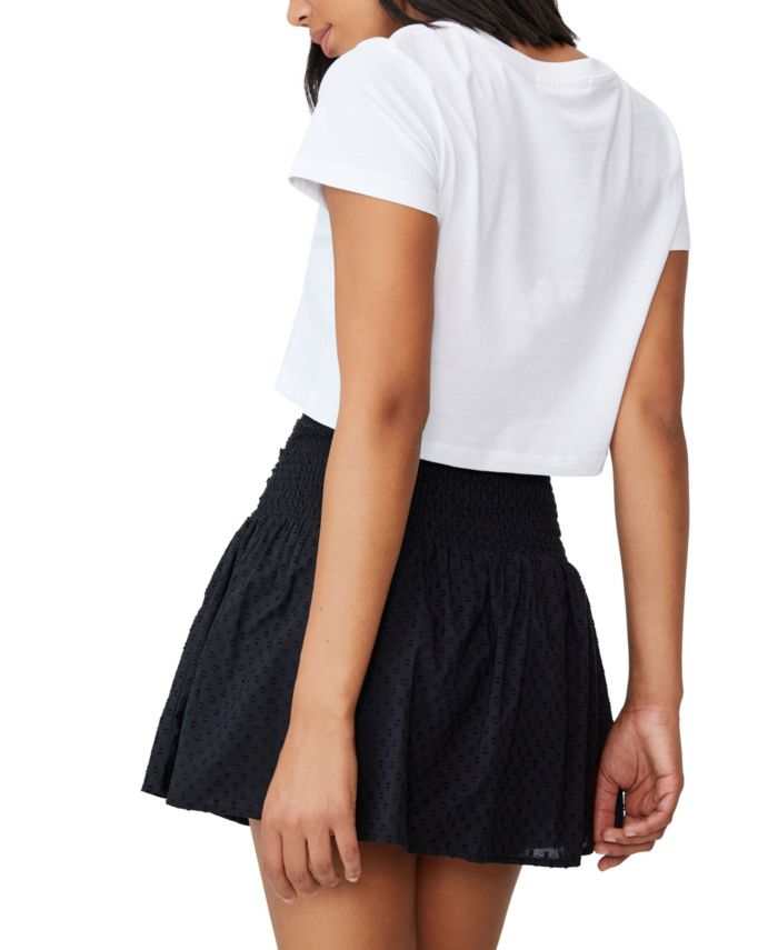 COTTON ON Women's Woven Tie Front Mini Skirt & Reviews - Skirts - Juniors - Macy's