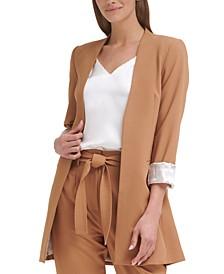 Collarless Topper Jacket, Regular & Petite Sizes