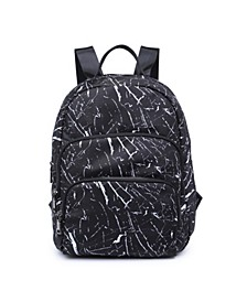 Three Zip Compartment Backpack