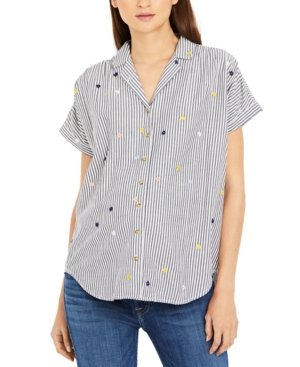 Cotton Embroidered Maternity Shirt