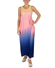 Ombré Side-Tie Maxi Dress